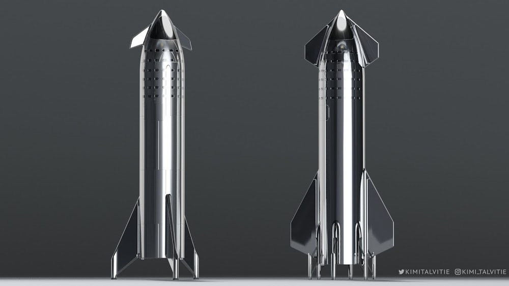 SpaceX Starship old design vs. the new one by Kimi Talvitie